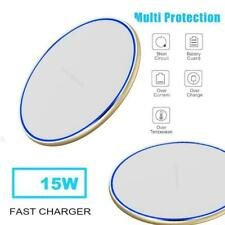 15W Fast Charger Qi Wireless Charging Mat Metal For iPhone Samsung Max XS S V1W4