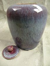 Ginger Jar, Ingwertopf aus China, ca. 24cm hoch, rot-türkis-blau,Fließfarben