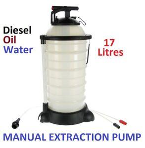 MANUAL LIQUID EXTRACTION VACUUM PUMP, 17 LITRE, DIESEL, OIL, WATER