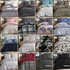 Bettwäsche 100% Baumwolle Renforce Bettbezug Deckenbezug Garnitur Set 5 Größen