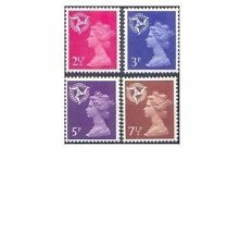 Great Britain REGIONALS – ISLE of MAN First Decimals 1971 (4) Unhinged Mint