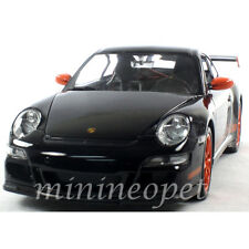 WELLY 22495 PORSCHE 911 997 GT3 RS 1/24 DIECAST BLACK with ORANGE WHEELS
