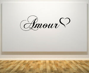 Amour Heart Love Bedroom Living Dining Room Wall Art Decal Sticker Picture