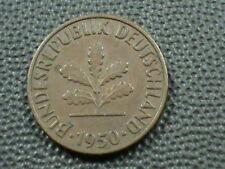 WEST GERMANY  2 Pfennig  1950  -  G  ,  $ 2.99  Maximum  shipping  in  USA