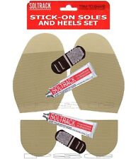 Soltrack Stick On Soles Ladies Heels Glue Anti Slip Ribbed DIY Shoe Repair SAND