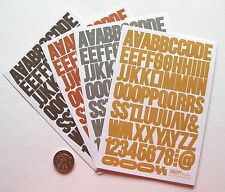 SCRAPBOOKING NO 291 - OVER 200 SMALL DIE CUT ALPHABET STICKERS - SALE TO CLEAR