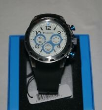 NEW Men's Columbia CA004045 Transit Black + Silver Analog Watch Chronograph NEW