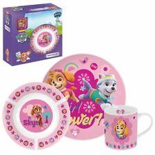 Geschirr-Frühstück-Set | Paw Patrol | Porzellan 3-Teilig | Geschirr Girl Power