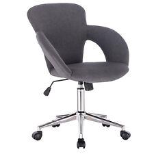 Bürostuhl  Arbeitshocker Schreibtischstuhl Rollhocker Kunstleder/Leinen #932