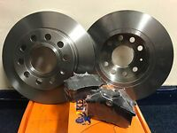 AUDI A3 MK2 8P 2003-2009 REAR 2 BRAKE DISCS AND PADS **BRAND NEW OEM QUALITY**