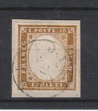FRANCOBOLLI 1861 SARDEGNA 10 C. BRUNO Z/425