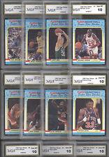 1988 FLEER BASKETBALL COMPLETE STICKER SET W #7 MICHAEL JORDAN BULLS GEM MINT 10