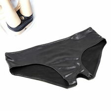 Chic Womens Restraint Bondage Wet Look Crotch Sexy Hole Knickers Panties Briefs