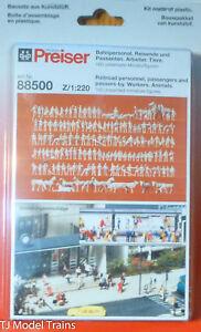 Preiser Z #88500 Figures -- Unpainted--Railroad Personnal and Passengers
