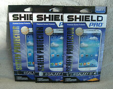 Shield Pro Set Of 3 Premium Screen Protectors For Galaxy S4 ~ NEW