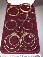 pairs of Hoop Earrings Jacqueline Kennedy Set of 4