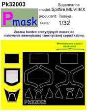 SUPERMARINE SPITFIRE MK.VIII/IX PAINTING MASK TO TAMIYA KIT #32003 1/32 PMASK