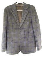 Mens Vintage Wool Green Check Jacket by Philips & Piper Made in UK Size 40''