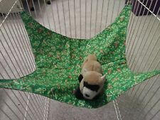 """Ferret Double-Sided Hammock - Christmas Candy Canes & Gold Snowflake - 13"""" x 15"""""""