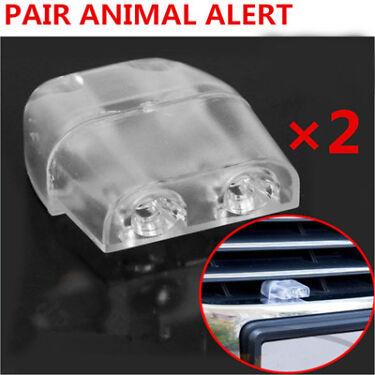2x Sonic Gadgets Car Grille Mount Animal Whistle Repeller Alert Deer Roadkill