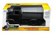Jada 1:24 1952 Chevy COE PickUp Truck Flat Bed Matte Black Diecast Model 97464