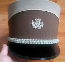 vintage Swiss army military kepi hat uniform lire music emblem fanfare musician