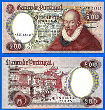 Portugal 500 Escudos 1979 UNC Prefix ASK Sanches FREE Shipping Worldwide