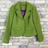 Boden Blazer Career Jacket Herringbone Tweed Woman Office Work Professional
