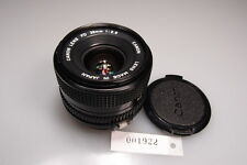 CANON FD 28mm 1:2.8 PRIME LENS W/ CAPS EXCELLENT