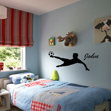 Football Boys Wall Stickers Art room Personalised Removable Decals DIY