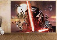 Papel Pintado Pared Mural para Infantil Dormitorio Star Wars Collage Foto