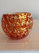 Decorative Coral Glass Candle Holder