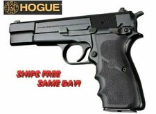 Hogue Browning Hi-Power Black Rubber grip with Finger Grooves New! # 09000