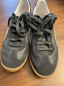 Mens Size 10 Puma Super Liga Shoes Black w/ White Trim