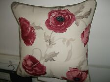 """a 22"""" Cushion Cover Laura Ashley Freshford Cranberry Both Sides With Piped Edge"""