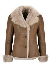Ladies Toscana Sheepskin Jacket Beige Natural Leather Winters Jacket SC-396
