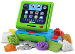 LeapFrog Super Market Count Along Cash Register 9 Coins & 1 Plastic Swipe Card