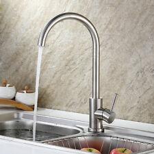 Designer SUS304 Stainless Steel Kitchen Sink Mixer Tap Monobloc Single Lever