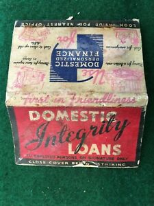 Vintage LARGE Matchcover - DOMESTIC PERSONALIZED FINANCE