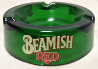 Beamish Red Ashtray Green Glass Beer Pub Advertising