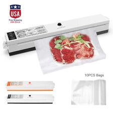 Kitchen Vacuum Sealer Machine Food Saver Preservation Pack&10pcs Sealing Bags