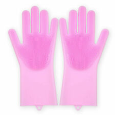 Glove Silicone Scrubbing Magic Rubber Dish Wash Clean Kitchen Reusable Soft