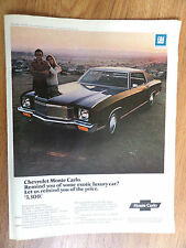 1971 Chevrolet Monte Carlo Ad  Remind you of Some exotic Luxury Car?
