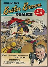 BUSTER BROWN #14 SMILIN' ED'S RADIO SHOW & SHOES PROMO COMIC THREE STORIES FN/VF