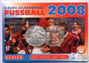 AUSTRIA OSTERREICH BLISTER 5 EURO EUROPEI CALCIO 2008