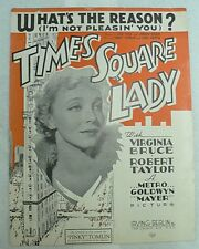 Sheet Music What'S The Reason Dated 1935