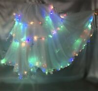 LED Skirt Dress Belly Dance Tango Samba Carnival Skirt Festival Fancy LED Skirt