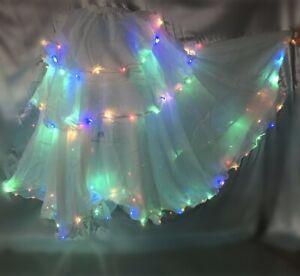 LED Skirt Dress Belly Dance Tango Samba Carnival Skirt Festival Fancy LED Skirt