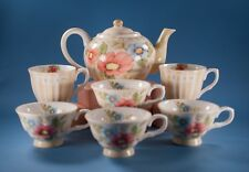 Susan Winget Dream Teapot Set with Cups Mugs 7 Pcs The Studio Shop