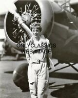 1936 NATIONAL AIR RACES AMELIA EARHART WIN 11x14 PHOTO AIRPLANE AVIATION PIONEER
